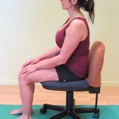 Slouching - sitting behind sit bones